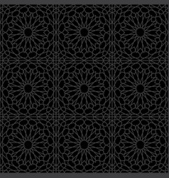Arabesque star seamless pattern vector