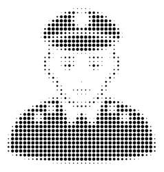 army general halftone icon vector image