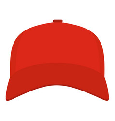 Baseball cap in front icon flat style vector