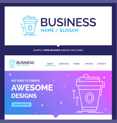 Beautiful business concept brand name product vector