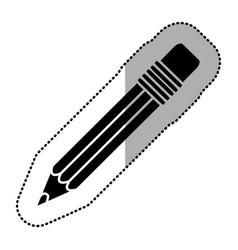 Black figure pencil icon stock vector