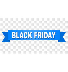 Blue stripe with black friday caption vector