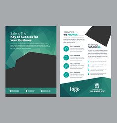 Both side business flyer template vector