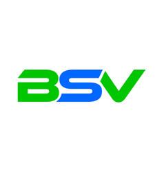 bsv letter logo vector image