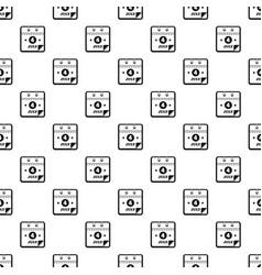 Calendar fourth july pattern seamless vector