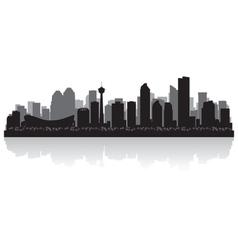 Calgary Canada city skyline silhouette vector