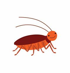 cartoon cockroach isolated on vector image