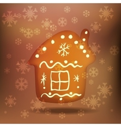 Christmas gingerbread house vector