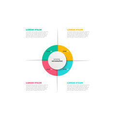 circle infographic template with icons and 4 vector image