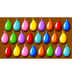 Colorful balloons on the board vector