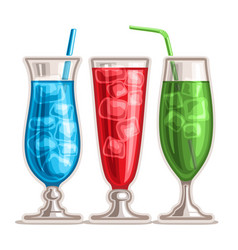 colorful cocktails vector image