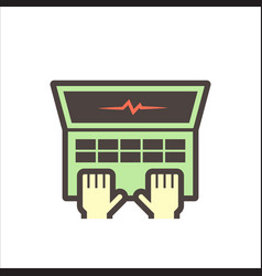 Computer test icon vector