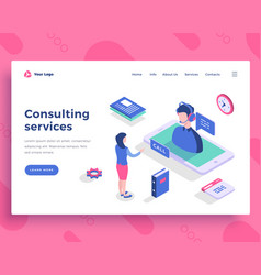 Consulting services concept office people and vector