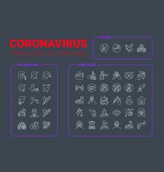 Coronavirus pandemic infographic vector