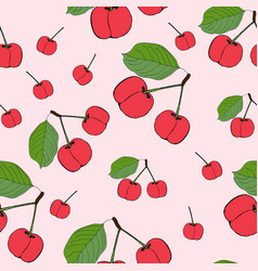 Cute cherry seamless pattern good for textile vector