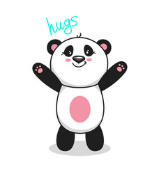 cute panda 1 vector image
