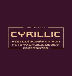 cyrillic extended sans serif font vector image