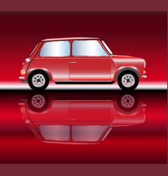 Fast mini car vector