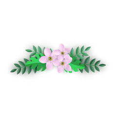 floral composition with vector image