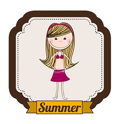 girl design vector image