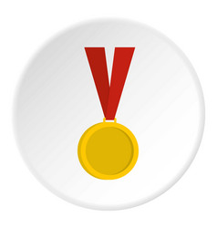 Gold medal icon circle vector