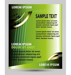 Green flyer template vector
