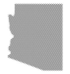 halftone silver arizona state map vector image