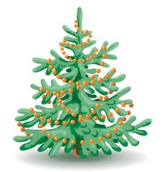 holiday fir vector image