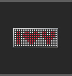 i love you text on a pixel monitor lettering vector image