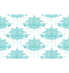 indian lotus flower seamless pattern vector image