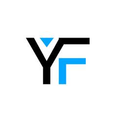 initial letter yf logo template design vector image