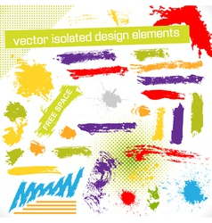 Isolated Design Elements vector image vector image