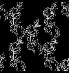 lace elegant vintage floral pattern with flowers vector image