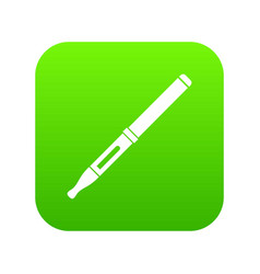 Mod and clearomizer in the kit icon digital green vector