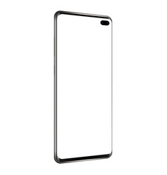 modern frameless smartphone - side view vector image