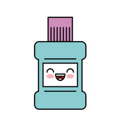 mouthwash bottle kawaii character vector image