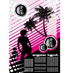 music girl night flyer vector image