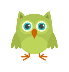 Nature owl icon flat style vector