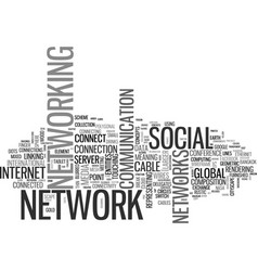 Networks word cloud concept vector