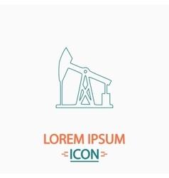 oil pump computer symbol vector image