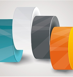 Pillars with your indicators business infographics vector