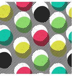 pop-art style seamless print yellow cyan blue vector image