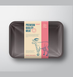 Premium quality goat pack abstract meat vector