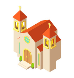 protestant church icon isometric style vector image