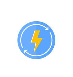 Recharging round icon vector