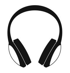 retro headphones icon simple style vector image