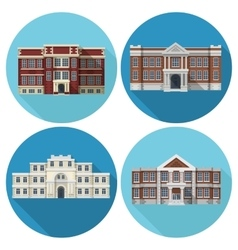 School Building Flat vector