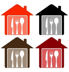 set home with utensil vector image