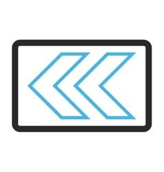 Shift Left Framed Icon vector