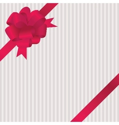 Shiny red satin ribbon on white background vector image